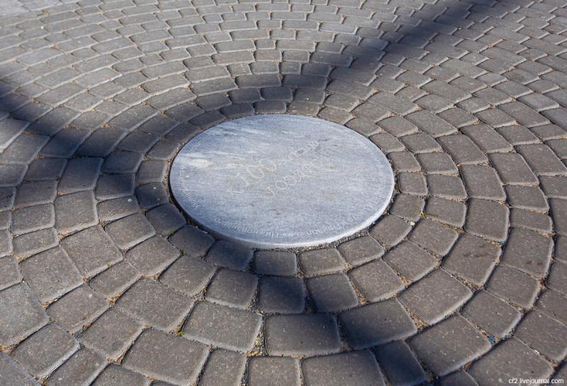 Шуховская опора ЛЭП на Оке, в центре площадки под ней. Нижегородская область