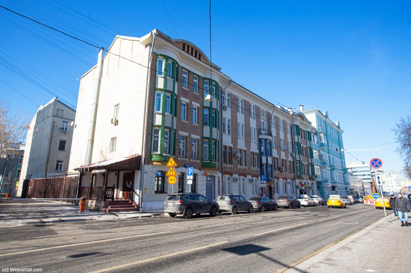 Бывший доходный дом Шевглягиной. Москва, улица Щепкина, 25