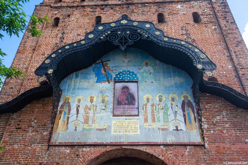 Пятницкие ворота Коломенского кремля, детали. Коломна, Московская область