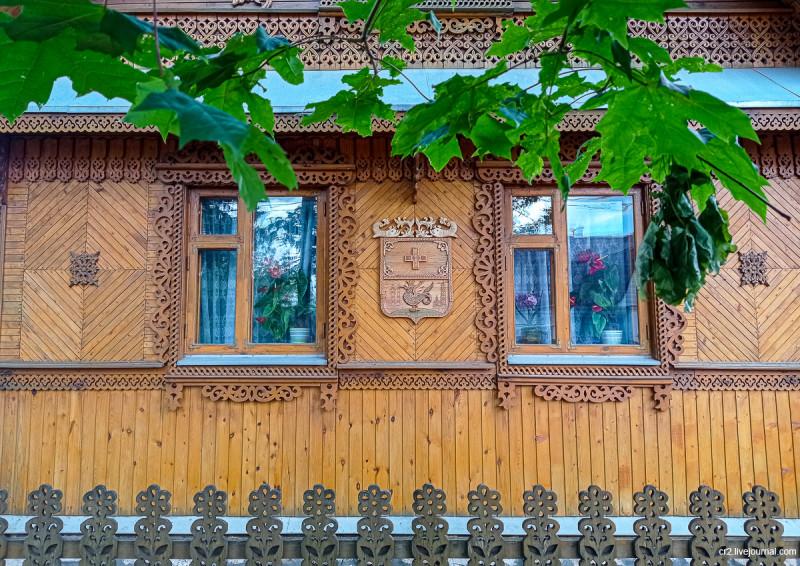 Кашира. Один из самых привлекательных и красивых домов города. Московская область