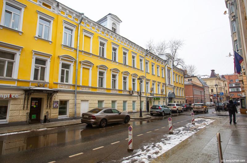 Бывший доходный дом купца Отто Крумбюгеля на улице Чаплыгина. Москва