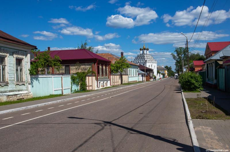 Улочка в старой части Коломны. Московская область