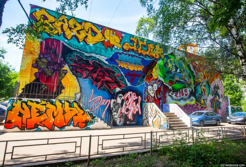 Результат недавнего стрит-арт-фестиваля в подмосковном Красногорске. Московская область