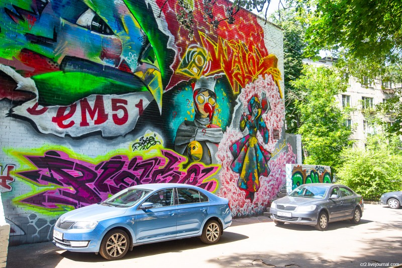 Результат недавнего стрит-арт-фестиваля в подмосковном Красногорске, детали. Московская область