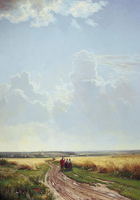 """Картина И.И. Шишкина """"Полдень. Окрестности Москвы"""" (1869 год). Фото из сети"""