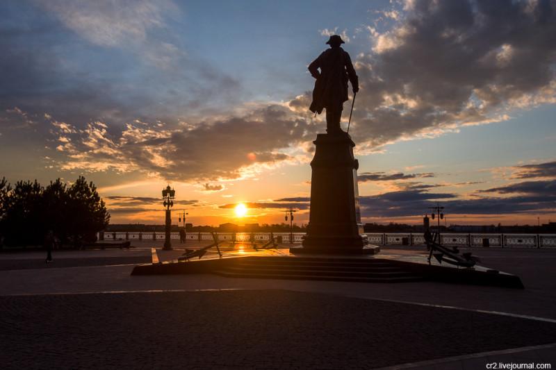 Закат в Астрахани
