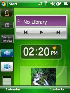 Samsung Omnia widgets