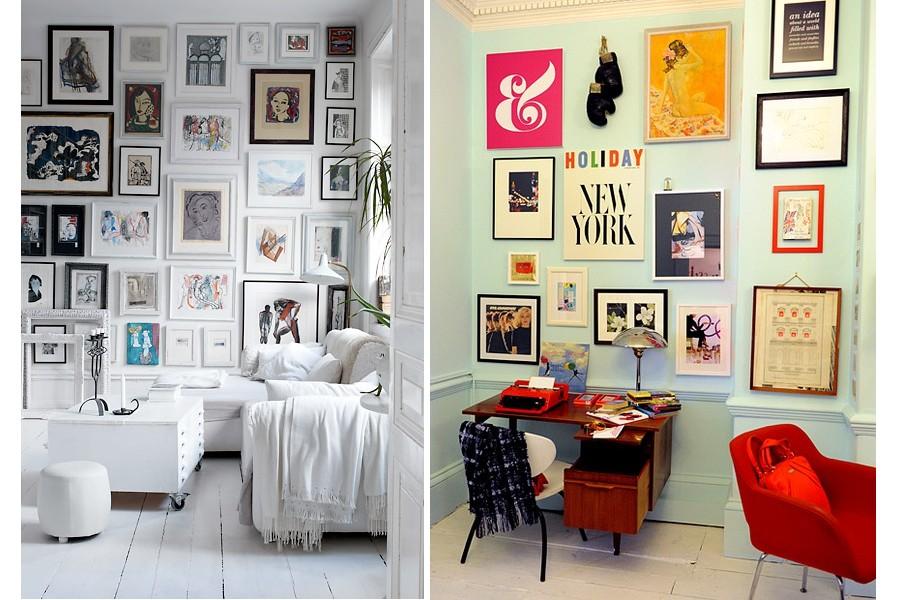 компоновка фотографий на стене
