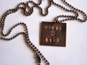 Music equals life necklace