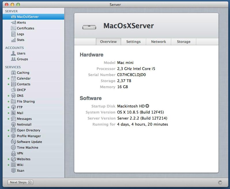 MacOSX Server