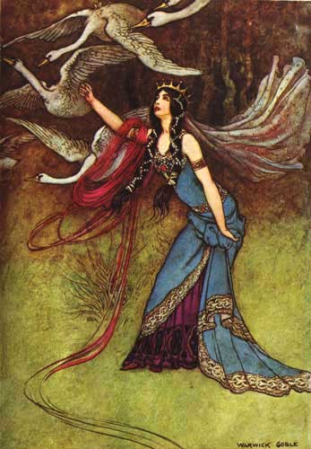 Warick Goble Six Swans