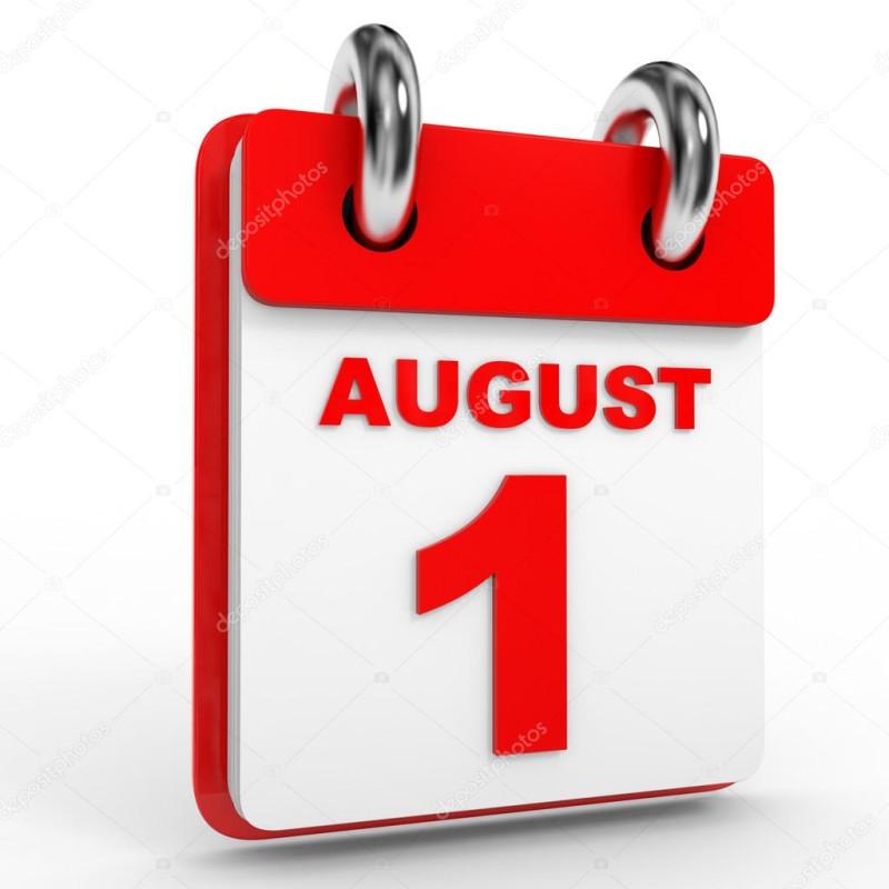 изменения на 1 августа в России
