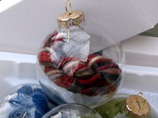 Close-up of Emergency Knitting Ornament