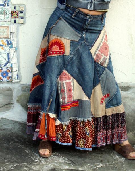 Очаровательная юбка в стиле бохо украшена красивыми мотивами, вязаными метки: юбка мотивы крючком вязание крючком