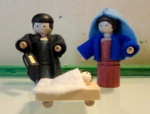 Maria, Jozef en kribbe