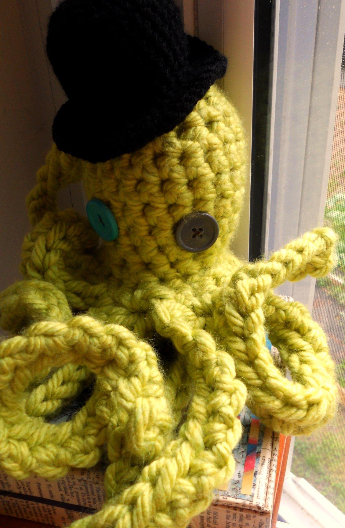 Top Hat Wearing Octopus