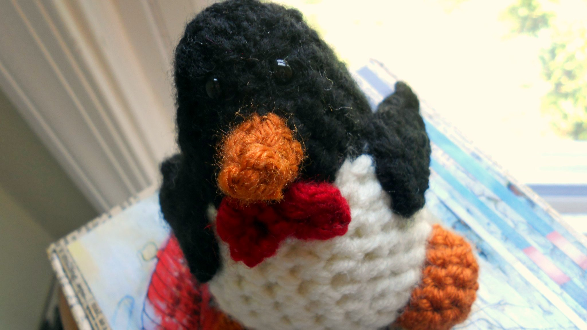 Crocheted Bow Tie Penguin!