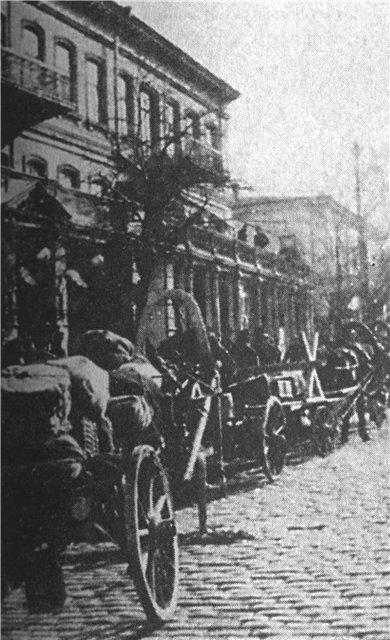 Графская пристань в Севастополе в дни эвакуации