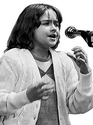 во время выступления (1985г.)