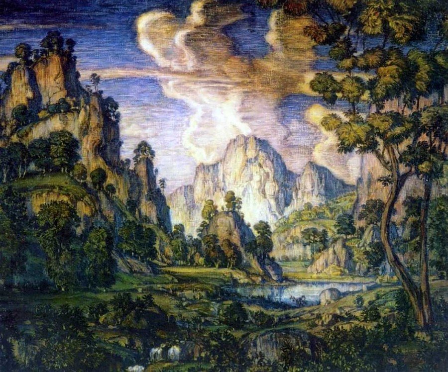классический пейзаж (1910г.)