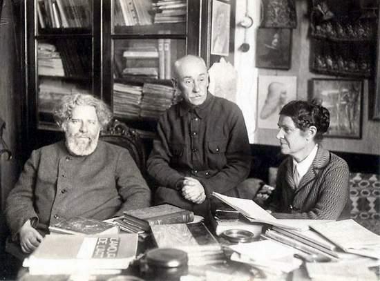 К.Богавский с женой Жанной Густавовной и М.Волошиным