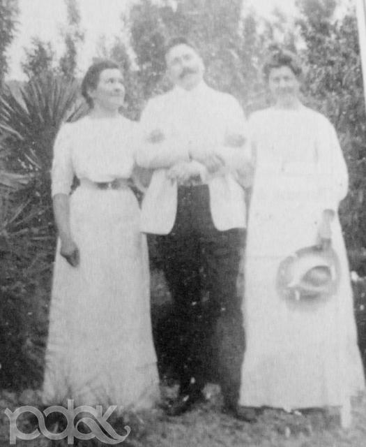 Врач Альтшуллер с женой и сестрой А.Чехова