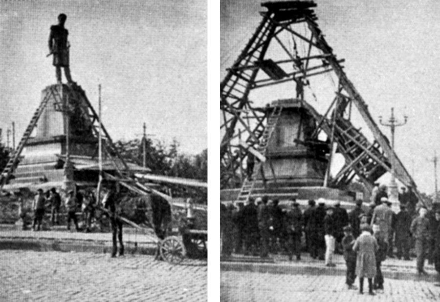 демонтаж памятника царскому адмиралу (1928)