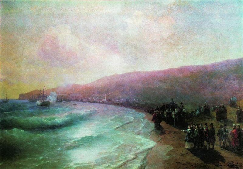 И.Айвазовский Екатерина в Феодосии