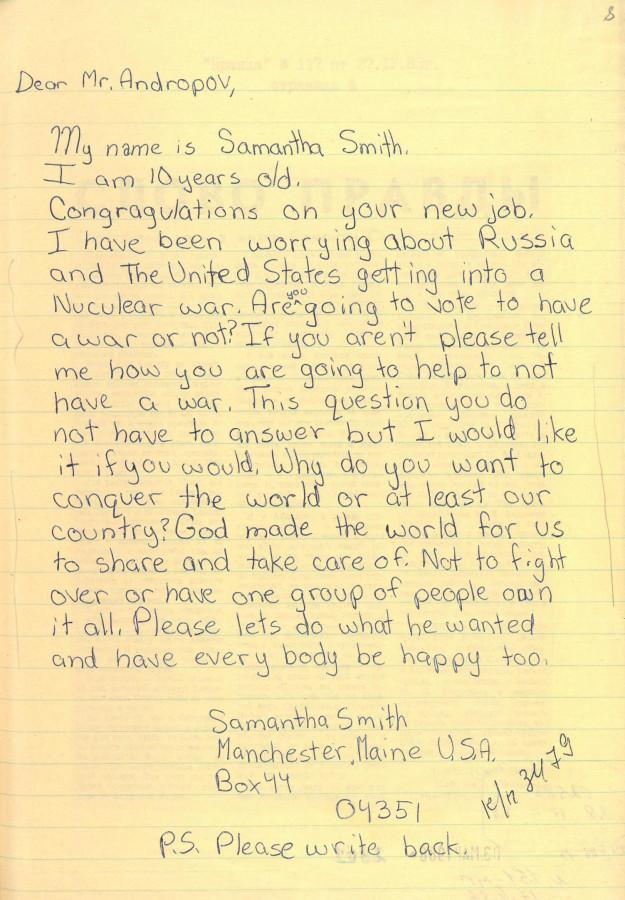 знаменитое письмо Саманты Смит