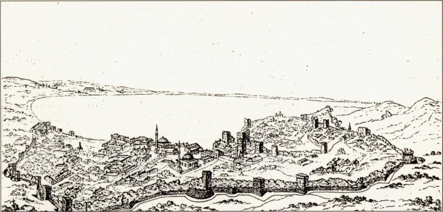 Панорама Кафы конца XVIII — начала XIX вв. Офорт неизвестного художника