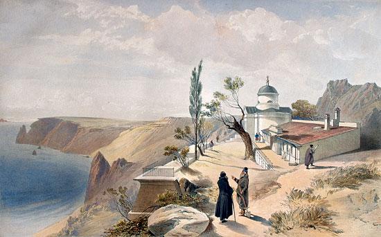 Георгиевский монастырь (литография начала 19 века)