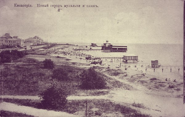 купальни на пляже (конец 19 века)
