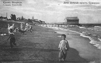 купальни у дачи Суворина (конец 19 века)