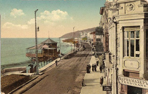 ялтинская набережная 100 лет назад. слква - городские купальни
