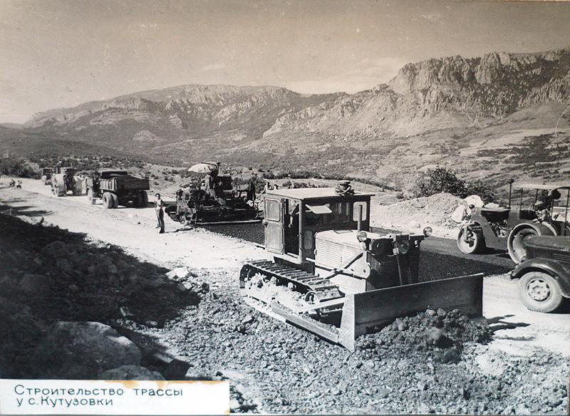строительство трассы у В.Кутузовки