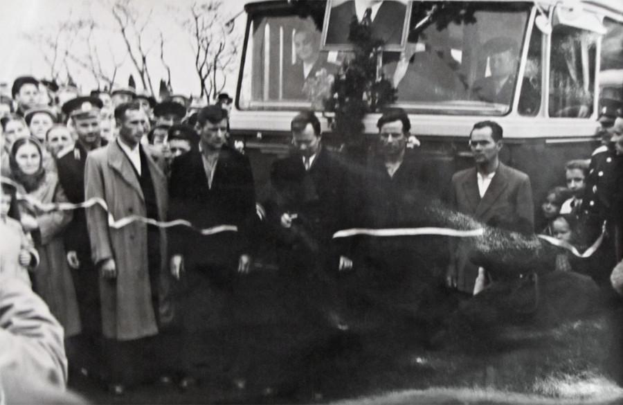 Открытие регулярного движения троллейбусов на участке Алушта - Симферополь.