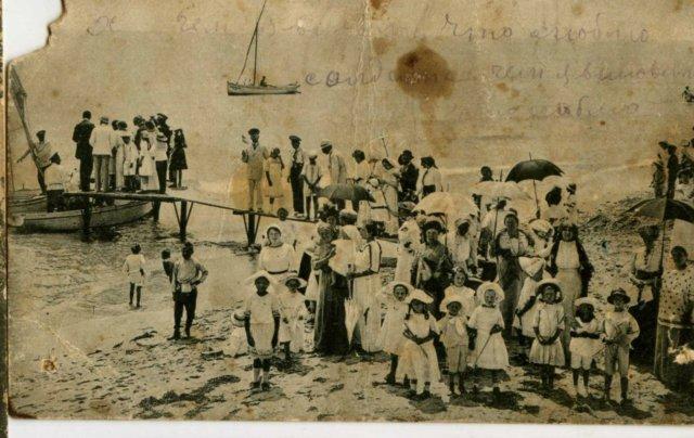 купание на Соляриуме в день белого цветка 1910