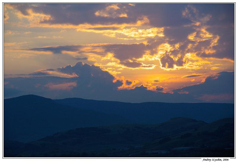 Закат над Коктебелем