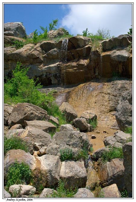 Водопад в урочище Панагия