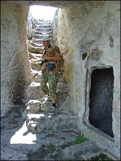 В пещере Мангупа