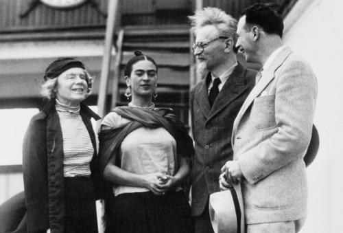 Frida Kahlo and Leon Trotsky, 1937