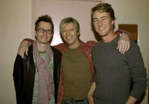 Gary Oldman, David Bowie and Edward Norton