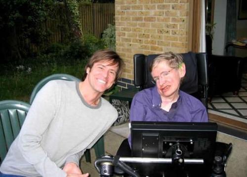 Jim Carrey and Stephen Hawking