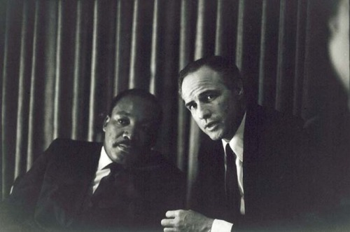 Martin Luther King Jr. and Marlon Brando, 1968