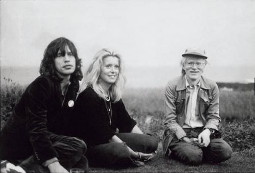 Mick Jagger, Catherine Deneuve and Andy Warhol, Montauk, 1975