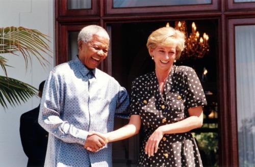 Nelson Mandela and Princess Diana, Cape Town, 1997