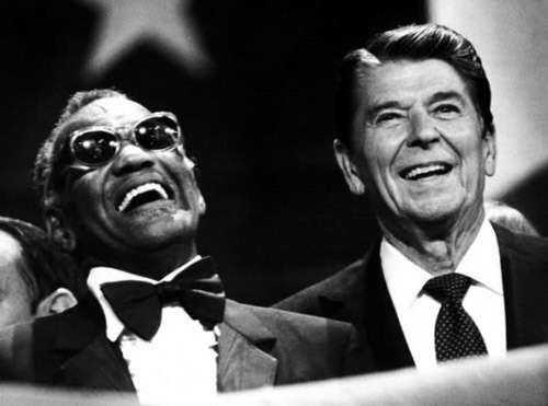 Ray Charles and Ronald Reagan