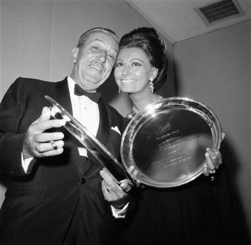 Walt Disney and Sophia Loren - October 1st, 1966