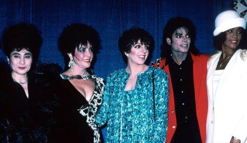 Yoko Ono, Elizabeth Taylor, Liza Minnelli, Michael Jackson and Whitney Houston