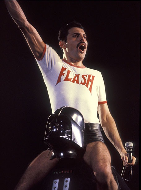 Freddie Mercury and Darth Vader